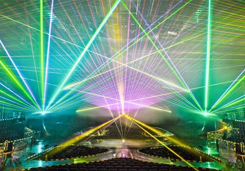 tarm laser show - with grating