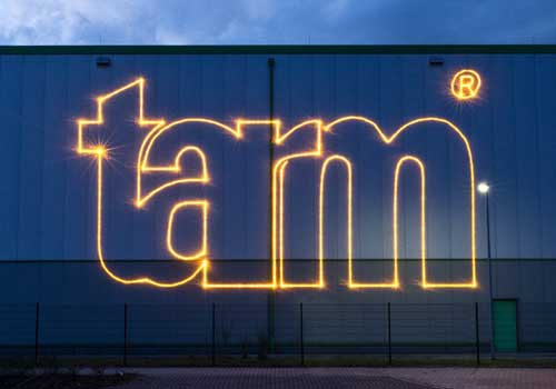 tarm laser show - logo projection
